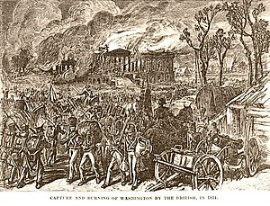 Mainland invasion of the United States - The burning of Washington in 1814