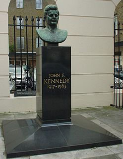 John F. Kennedy Memorial, London Memorial on Marylebone Road, London, England