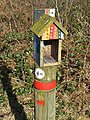 Butterfly Trail - Red trail marker - geograph.org.uk - 1205473.jpg
