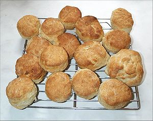 A fresh batch of homemade buttermilk scones.