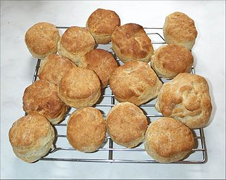 Scone - A fresh batch of homemade buttermilk scones