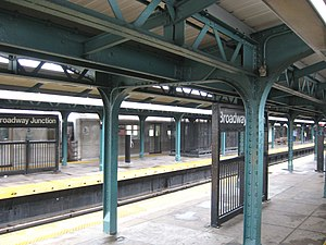 Broadway Junction (New York City Subway) - Image: Bway Junct J platform