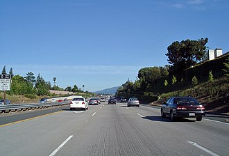 Road surface - Concrete roadway in San Jose, California