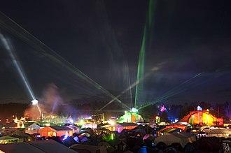 Chaos Communication Camp - Chaos Communication Camp 2011 Lasershow
