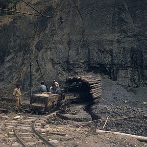 Ombilin Coal Mine - An entrance to the Ombilin coal mine in 1971