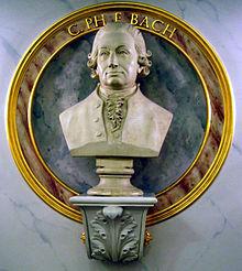 photo: buste de CPE Bach