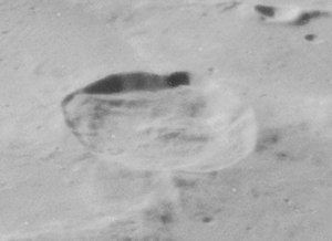 C. Mayer (crater) - Oblique view from Lunar Orbiter 4