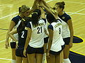 Cal women's volleyball team, USC at Cal 11-22-08.JPG