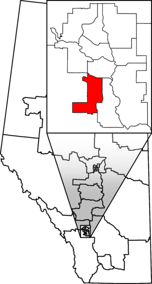 Calgary Heritage - Calgary Heritage in relation to other Alberta federal electoral districts as of the 2013 Representation Order.