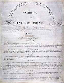 California Constitution 1849 title page