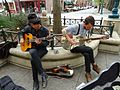 California Santa Cruz street musicians playing.JPG