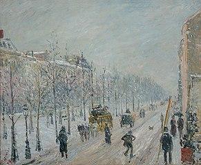 Les boulevards extérieurs. Effet de neige
