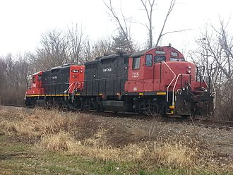 Camp Chase Industrial Railroad - Camp Chase Industrial Railroad engine no. 7225 and 7042