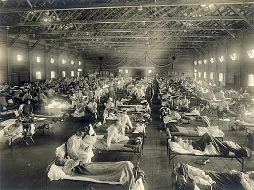 Camp Funston, at Fort Riley, Kansas, during the 1918 Spanish flu pandemic