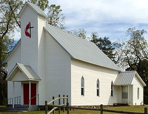National Register of Historic Places listings in Fulton County, Arkansas - Image: Camp Methodist Church 1