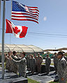 Canadian US celebration in Afghanistan.jpg