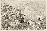 Canaletto, Landscape with a Woman at a Well, c. 1740, NGA 119727.jpg