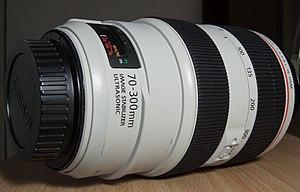 Canon EF 70–300mm lens - Image: Canon EF 70 300mm f 4 5.6 L IS USM Lens
