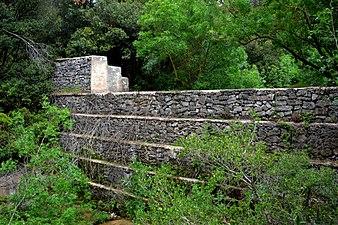 Capçalera del Foix, presa per aturar l'erosió.jpg