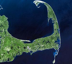 Attack on Orleans - Image: Cape Cod Landsat 7