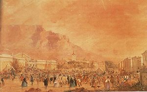 History of the Cape Colony from 1806 to 1870 - Speeches and rally against the establishment of a penal colony at the Cape Colony.