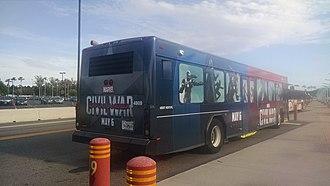 Disney Transport - Image: Captain America Civil War Bus at DHS (27740037045)