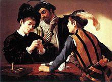 Caravaggio, I bari, 1595 ca. Olio su tela, 91,5 × 128,2 cm. Fort Worth, Kimbell Art Museum.