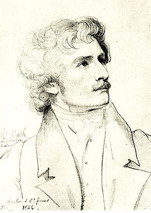 Karl Wilhelm Wach - Drawing by Carl Christian Vogel von Vogelstein.