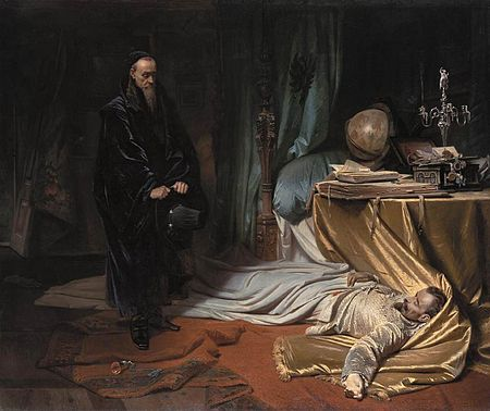 Carl Theodor von Piloty - Seni at the Dead Body of Wallenstein - WGA17765