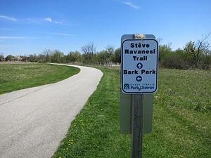 Carol Stream, Illinois - The Steve Ravanesi Trail connects the Great Western Trail with Red Hawk Park, the Bark Park and Glenbard North High School