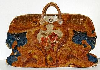 Carpet bag traveling bag made of carpet