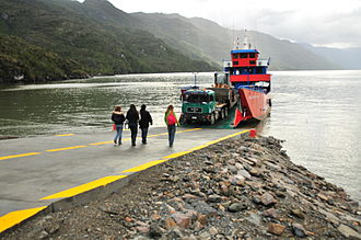 Fjords and channels of Chile - Channels, fjords and straits are important waterways for the region, as here in Mitchell Fjord, near Villa O'Higgins