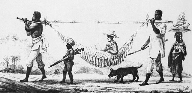 Slavery and white slave master