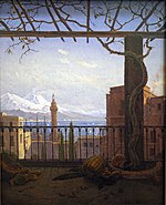 Neapel mit Monte Somma und Vesuv, 1831 (Quelle: Wikimedia)