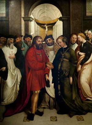 Manuel I of Portugal - Saint Aleixo's Wedding of Manuel and Maria; Garcia Fernandes, 1541.