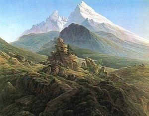 Watzmann - Image: Caspar David Friedrich 012