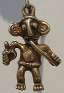 Cast gold male figure pendant, Veraguas or Chiriquí, Honolulu Museum of Art, 341.1.JPG