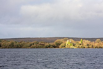 Kilnaboy - Inchiquin Castle seen across Inchiquin Lough