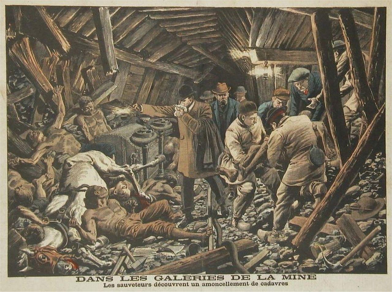 Mine - Explosion - Coup de grisou - Morts - Blessés - Ouvriers - Catastrophe - SchoolMouv - Histoire - CM2