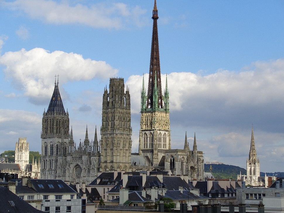Cathédrale de Rouen vue de l'Opéra