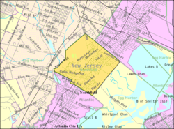 Census Bureau map of Northfield, New Jersey