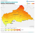Central-African-Republic GHI Solar-resource-map GlobalSolarAtlas World-Bank-Esmap-Solargis.png