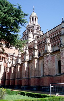 Certosa di Pavia from the Northwest.jpg