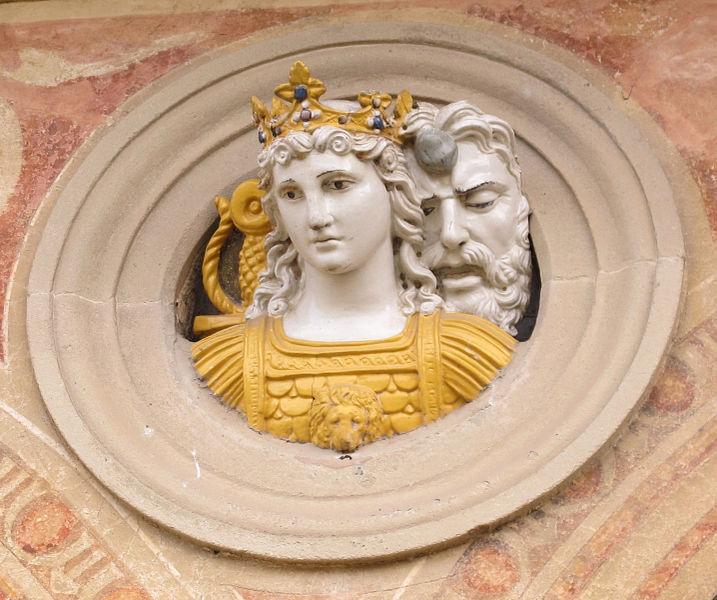 File:Certosa di fi, chiostro grande, tondi santi di giovanni della robbia A02 giuditta.JPG