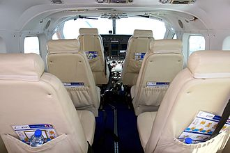 Cessna 208 Caravan - Low-density seating in the cabin of a passenger-carrying version