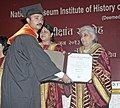 Chandresh Kumari Katoch conferred the degree, at the 10th Convocation of National Museum Institute, in New Delhi on June 03, 2013. The Secretary Culture, Smt. Sangita Gairola is also seen (1).jpg