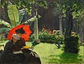 Charles Courtney Curran, 1889 - Afternoon in the Cluny Garden, Paris.jpg