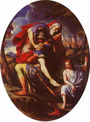 Charles Errard - Aeneas carrying Anchises, by Charles Errard