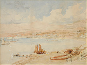 Charles Heaphy - A view of Wellington Harbour, executed by Heaphy in 1841