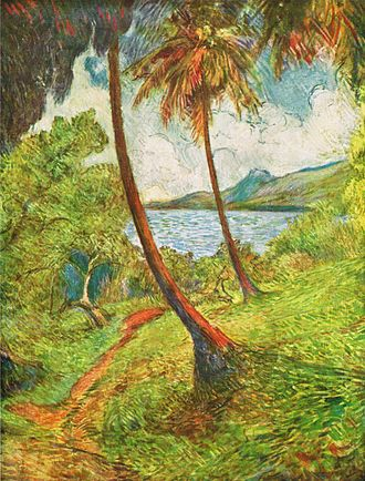 Charles Laval - Landscape of Martinique, (1887)